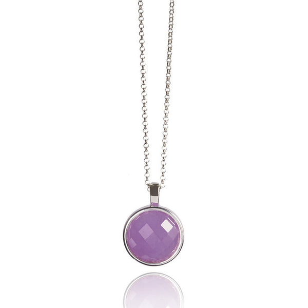 Monaco Lavender Jade Sterling Silver Necklace