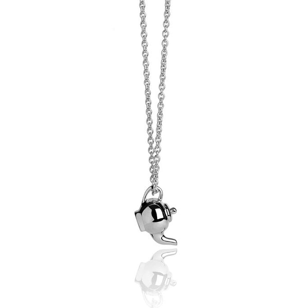 Teapot Talisman Sterling Silver Charm Necklace