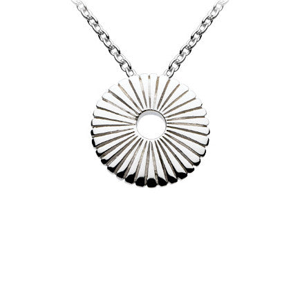 Sunflower Sterling Silver Pendant
