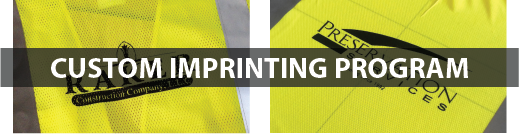 Custom Imprinting Program, Screen Printing, Embroidery, and Sublimation