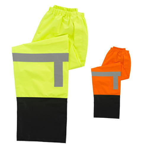 Class E, High Visibility Rain Pants, Black Bottom [S373PTB]