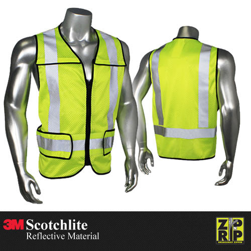 Customizable Zip-N-Rip Class 2 Safety Vest [LHV-5-PC-ZR]