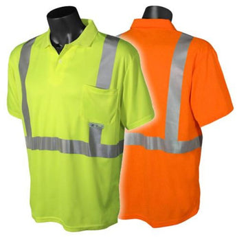 Radians ST12, ANSI Class 2 Hi-Viz Short Sleeve Polo Shirts