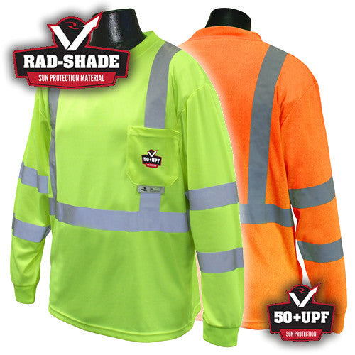 Radians, High Visibility RAD-SHADE Long Sleeve T-Shirt, Class 3 [ST21UV]