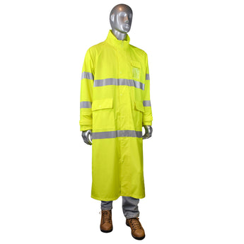 Radians RC07-3ZGV, FORTRESS™35 High Visibility Rain Coat, Front View