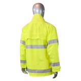 Radians RJ25-3ZGV, Fortress 20 High Visibility Rain Jacket, Back View