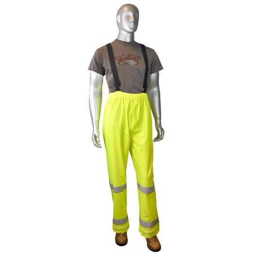 Radians RP25-EZGV, FORTRESS™20 High Visibility Rain Pants, Front View