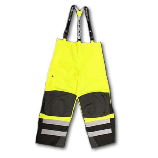 Radians RW32-E, Heavy Duty Hi-Viz Rip-Stop Waterproof & Breathable Pants w/Bib, Full View