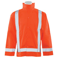 Class 3 Rain Jacket with Detachable Hood 63011 S373D