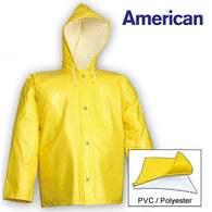 Tingley, American Yellow 18mil Jacket w / Storm Fly Front & Attached Hood [J32107]