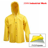 Tingley, .35mm Industrial Work, Yellow Jacket w / Storm Fly & Attached Hood [J53107]