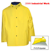 Tingley, .35mm Industrial Work, Yellow Jacket w / Storm Fly & Detachable Hood [J53207]