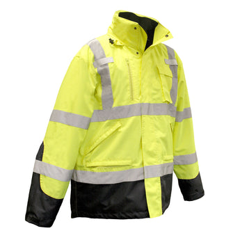 Radians SJ410B, Three-In-One High Visibility Parka, Right Front