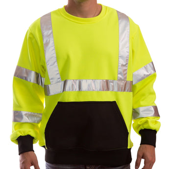 Tingley, Class 3 Crew Neck High Visibility Sweatshirt [S78022]