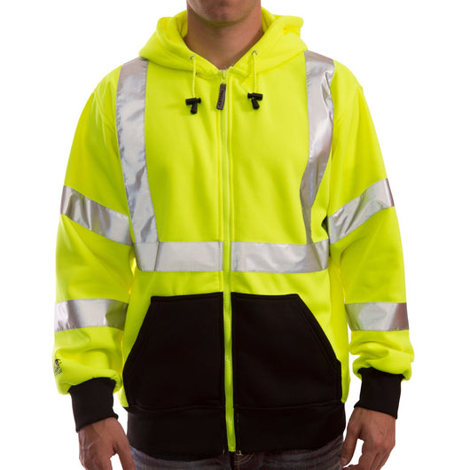 Tingley S78122 Class 3 High Visibility Sweatshirts, Front View
