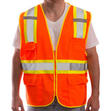Tingley, Two-Tone Surveyor Style, Solid Knit/Mesh, Class 2 Safety Vest w/Zipper Closure [V73852 & V73859]