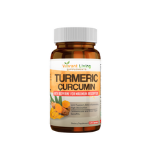 Living Organic Turmeric 1200mg with Black Pepper.  (60-Day Supply) +  Free U.S. shipping