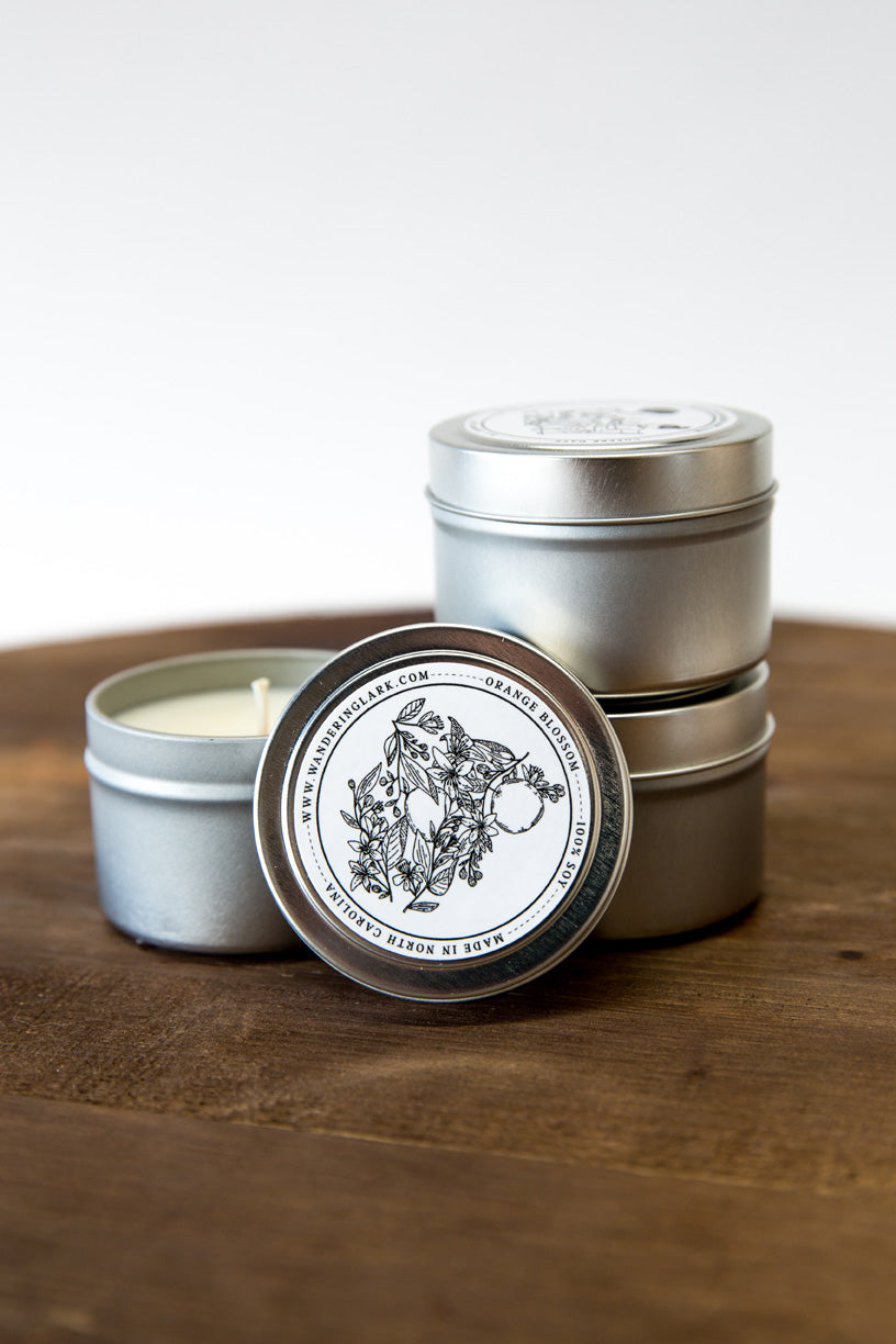 Orange Blossom Travel Tin