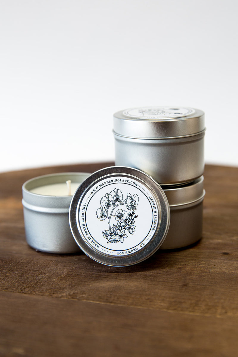 Orchid & Jasmine Travel Tin