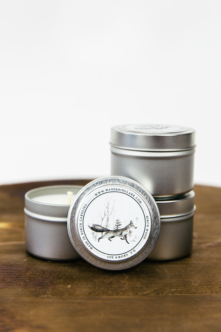Birch Wood Travel Tin