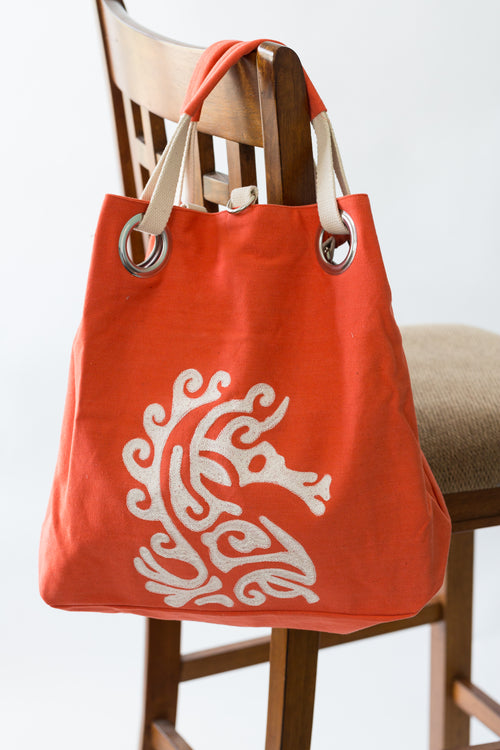 Sea Horse Grommet Bag