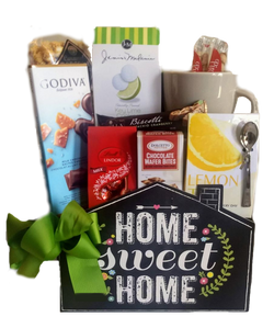 New Home Gifts -  Tea & Cookies with Customizable Mug - Realtor Gifts