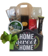 New Home Gifts -  Wine Glasses & Cheeseboard Celebrations Gift