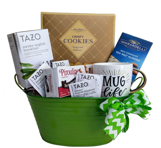 Corporate Gifts - Bright Starts Inspirational Tea & Cookies Gift Basket
