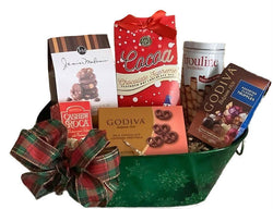 Christmas Holiday Gift Baskets - Sweet Delights Festive Green Snowflake Gift - Business  & personal