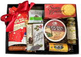 Holiday Gift Baskets - Faux Leather Gourmet Holiday Tray with Sausage - Business Gifts