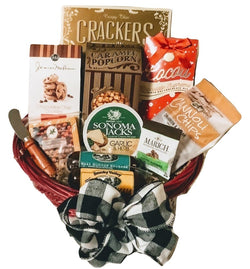 Christmas / Holiday Gift Baskets - Grand Celebrations Gourmet Sausage & Cheese Gift- Business & Personal Gifts