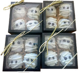 Spooky Mummy Truffles -   White Chocolate Cookie Truffles  (Ohio only) - Fine Handcrafted Chocolates