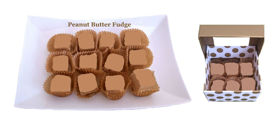 Fine Handcrafted Chocolates -  1/4 Lb Peanut Butter Fudge - Gold Box (Ohio only)