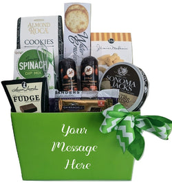 Spring Gift Baskets - Sausage & Cheese Gifts - Thank You, Family Gifts