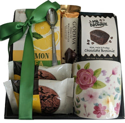 Tea & Cookies Gift Box with Tea Cup - Birthday, Mother's Day, Anniversary, Thank You & All Occasion