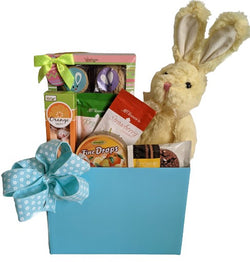Easter Gifts - Gift Basket with Bunny, Cookies, Candy & more Kids Easter Gifts