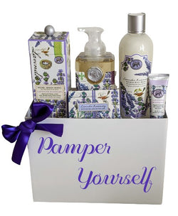 Mother's Day SPA Gift Basket - Relaxing Lavender Rosemary Gift Set, Birthday, Anniversary, Thank You
