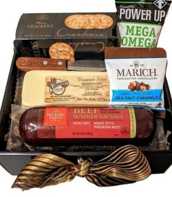 Cheese & Sausage Gift Box - All Occasion Gift, Valentine's Day Gifts, Business Gifts, Thank You Gifts