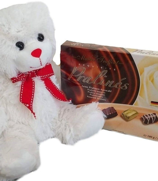 Valentines Day Gifts - Teddy Bear with Chocolate Box Combo Pack - Gifts for her