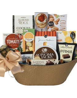 Thank You Gift Basket - Gourmet Cheese & Snacks Food Appreciation Gift Basket - Business Gifts