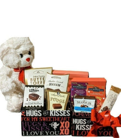 Valentines Day Chocolate Gift Tower with Teddy bear - Anniversary Gifts