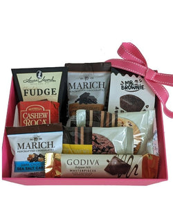 Mother's Day Gift Basket - Chocolates & Cookies in Pink Gift Box - Gifts for Her