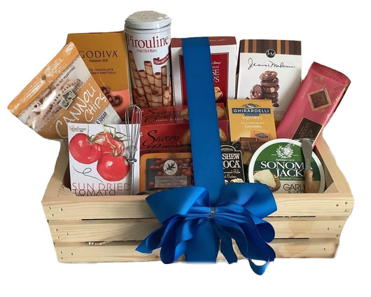 Gourmet Wooden Crate Gift  - Business & Team Gifts - Holiday Gift Baskets