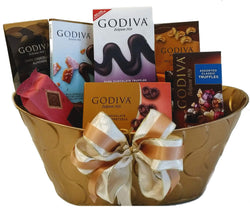 Golden Godiva Chocolate Gift Basket - All Occasion Gift