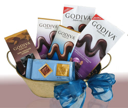 Godiva Chocolates in a Metallic Gold Container