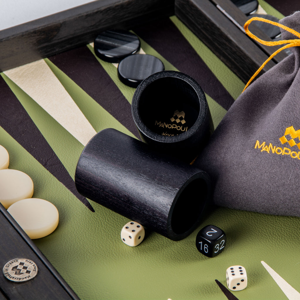 OLIVE GREEN Backgammon