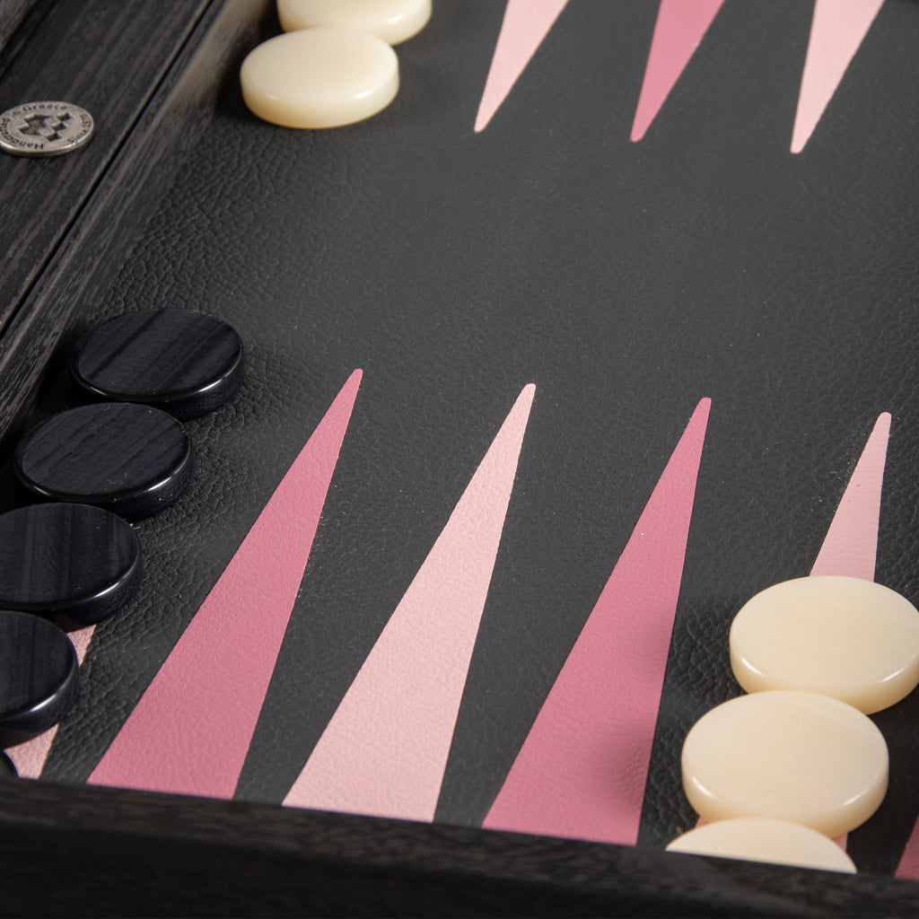Black and Dusty Pink Backgammon