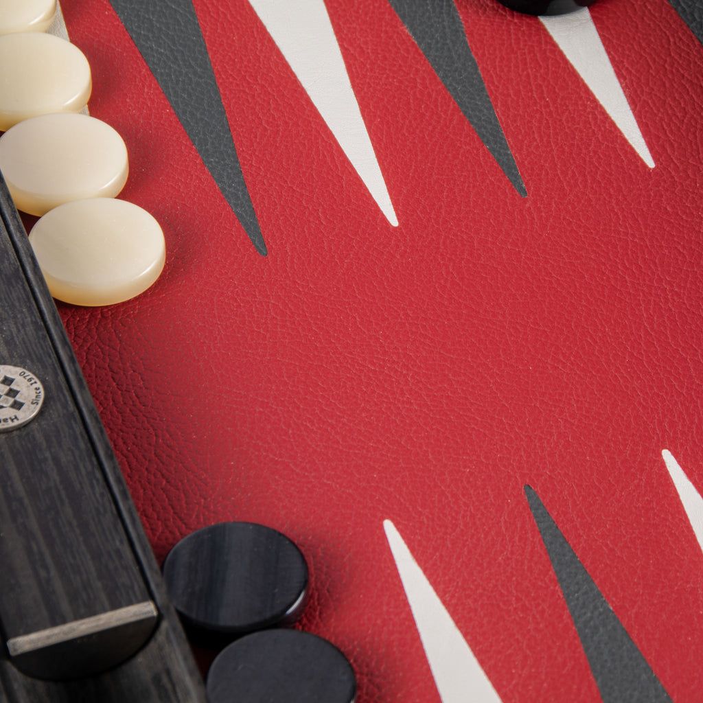 Burgundy Red Backgammon