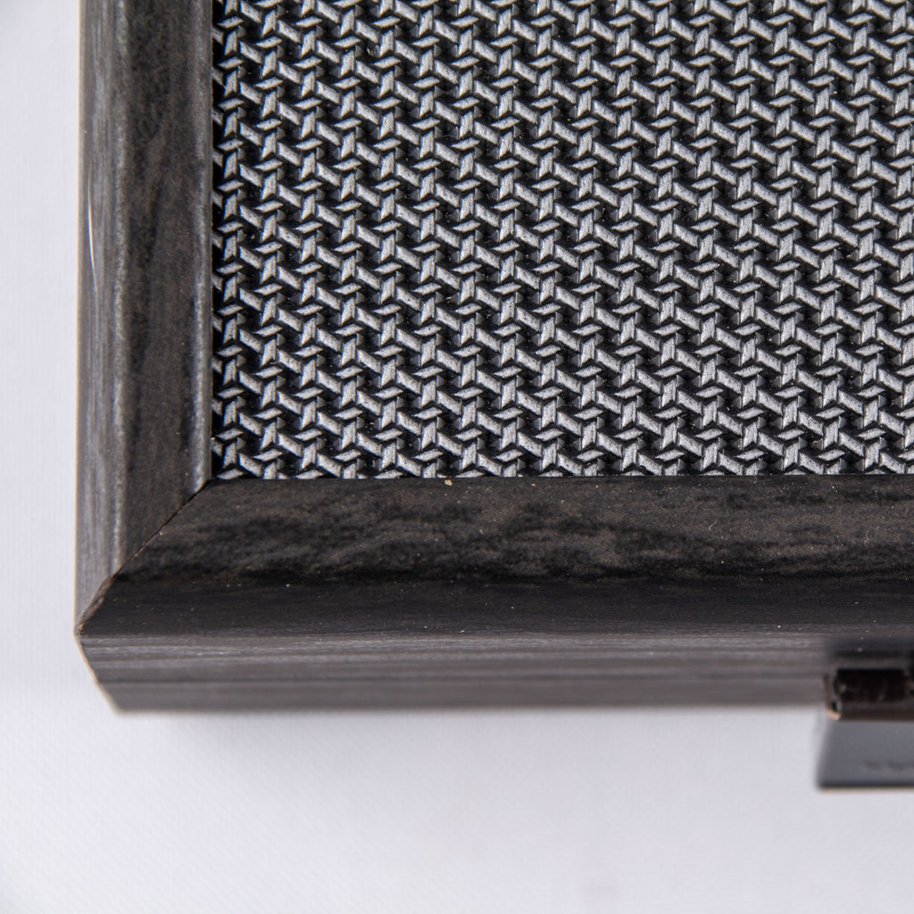 SILVER GRID TEXTURE with RUBBER PLAYING FIELD Backgammon