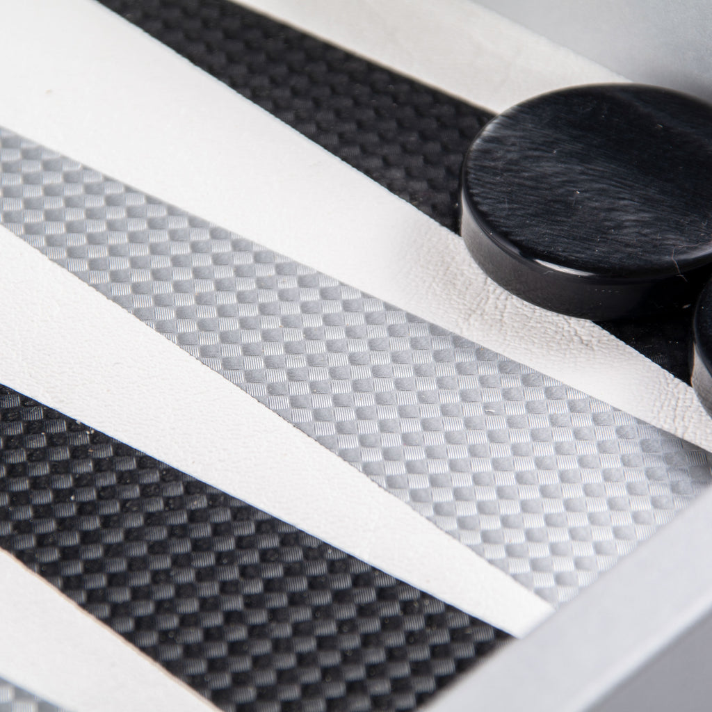 Carbon Fiber Texture Backgammon